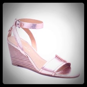 Todeo wedge sandles Rose from anthropologie NWT